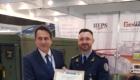 Ο Διευθυντής της IDE Products and Solutions Δρ. Στέργιος Τόπις (αριστερά), και ο Διευθυντής της ENSEC COE, Συνταγματάρχης Romualdas Petkevičius