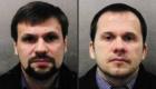 Οι φωτογραφίες των «Ρουσλάν Μποσίροφ» αριστερά και «Αλεξάντερ Πέτροφ» δεξιά, όπως δόθηκαν στη δημοσιότητα από τη βρετανική Αστυνομία στις 5 Σεπτεμβρίου 2018.