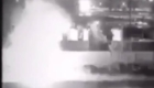 Η σκηνή της προσβολής του οχήματος του Σουλεϊμανί από τον αμερικανικό Hellfire. Φαίνεται καθαρά έκρηξη με έντονη ανάφλεξη.