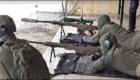Ελεύθεροι σκοπευτές της ισραηλινής αστυνομικής μονάδας Yamam εκτελούν βολές με τυφέκια MRAD.