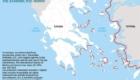 Ο χάρτης αυτός δημοσιεύθηκε στην ειδική έκδοση της εφημερίδας «Καθημερινή» με τίτλο «Τουρκικές διεκδικήσεις σε Αιγαίο και Ανατ. Μεσόγειο» του Άγγελου Συρίγου. Σε ορισμένες περιπτώσεις οι ευθείες γραμμές βάσης παραβιάζουν εμφανώς τις σχετικές προβλέψεις της UNCLOS.