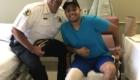 O αστυνομικός Duarte που τραυματίστηκε από κακοποιό και σώθηκε από ένοπλο πολίτη.
